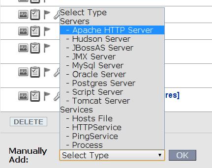 RHQ: dodanie serwera Apache