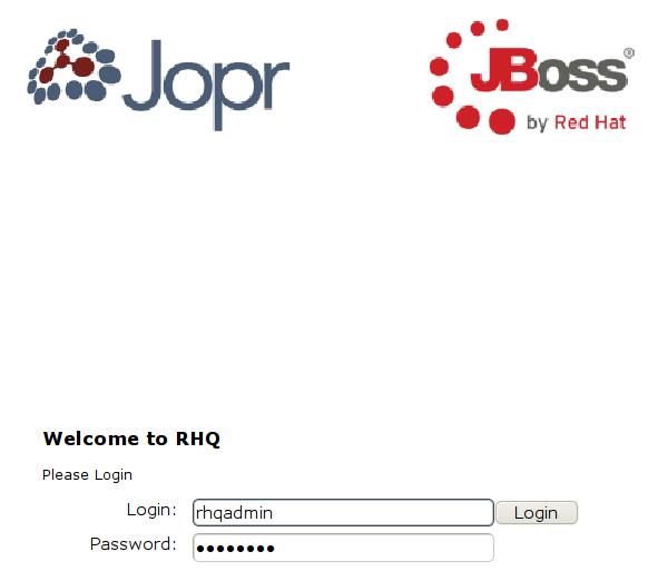 RHQ Server - logowanie