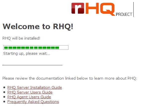Instalacja RHQ Server - proces instalacji