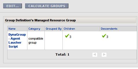 RHQ Server - szukanie zasobów dla grupy dynamicznej