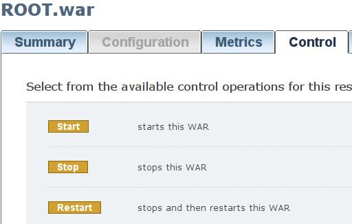 Admin Console - kontrola aplikacji