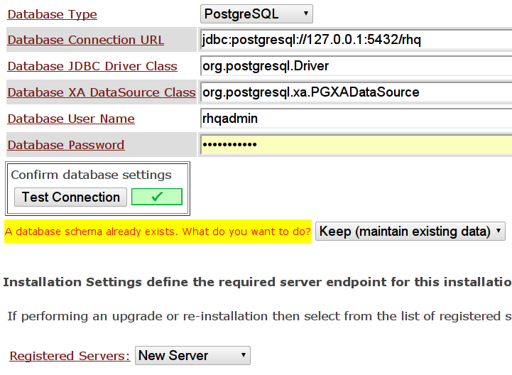 RHQ Server - aktualizacja serwera