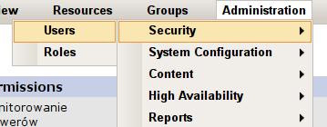 RHQ Server - zarządzanie użytkownikami