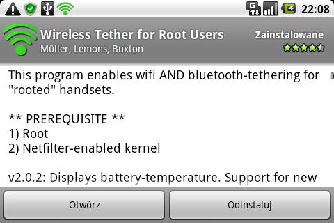 Andorid Market - Wireless Thether