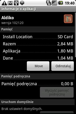 Przeniesienie aplikacji na kartę SD
