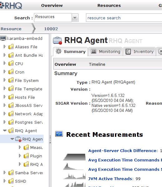 Przykładowy ekran z listą usług
