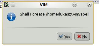gVim: Utworzenie katalogu dla słownika