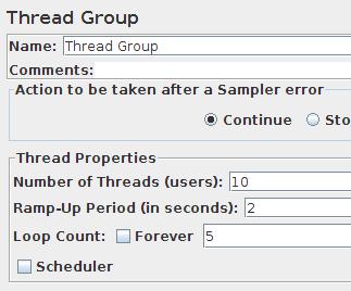 JMeter - definicja sposobu uruchamiania testu